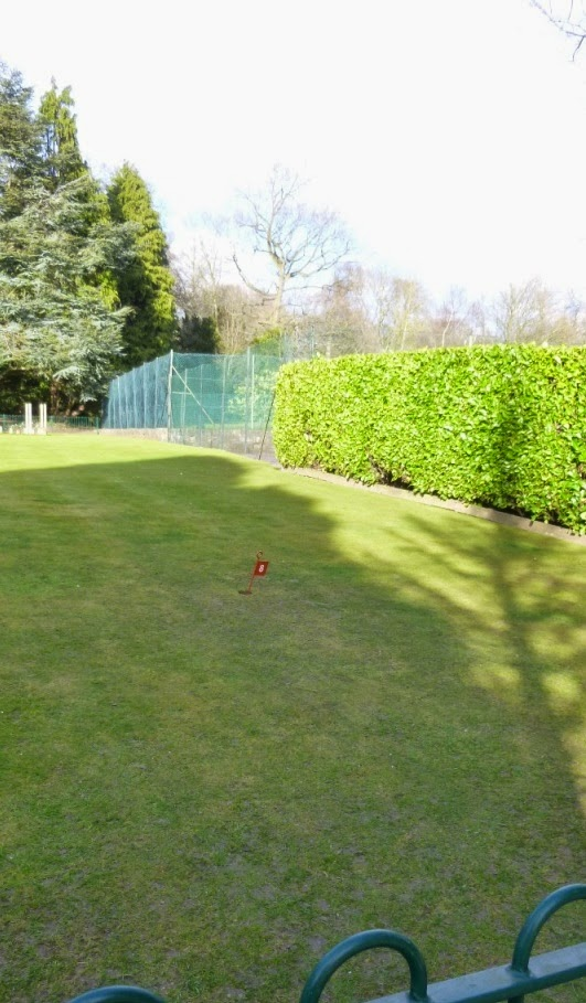 Minigolf grass Putting Green at Conyngham Hall Gardens in Knaresborough