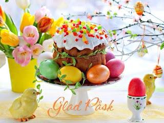 pastel decorado con huevos de pascuas