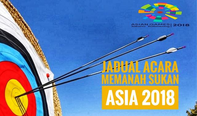 Jadual Acara Memanah Sukan Asia 2018