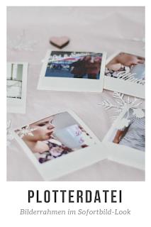 Fotoerinnerungen hübsch zu gestalten kann eine Herausforderung sein. Zu groß das Risiko auf immer gleiche Konzepte zurückzugreifen! Schneide mit den Plotterdateien für Bilderrahmen im Sofortbild-Stil Rahmen, die den Retro-Charme von Sofortbildern versprühen, ganz einfach zu Hause auf deinem Plotter!