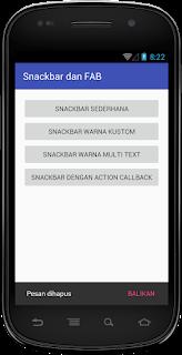 yaitu salah salah satu widget dari komponen UX Cara Menerapkan Custom Snackbar Material Design Android