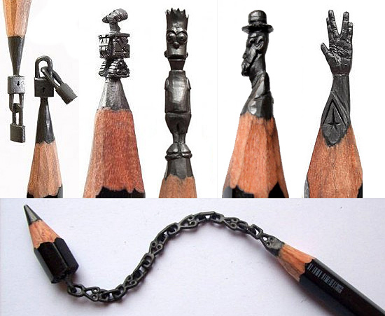 Mini-esculturas na ponta do Lápis - Salavat Fidai