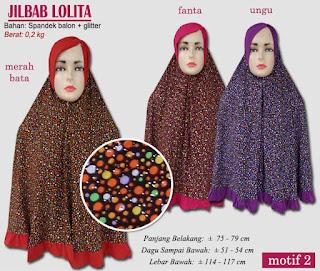 Grosir jilbab syar'i tudung syria glitter motif indah dihiasi rempel