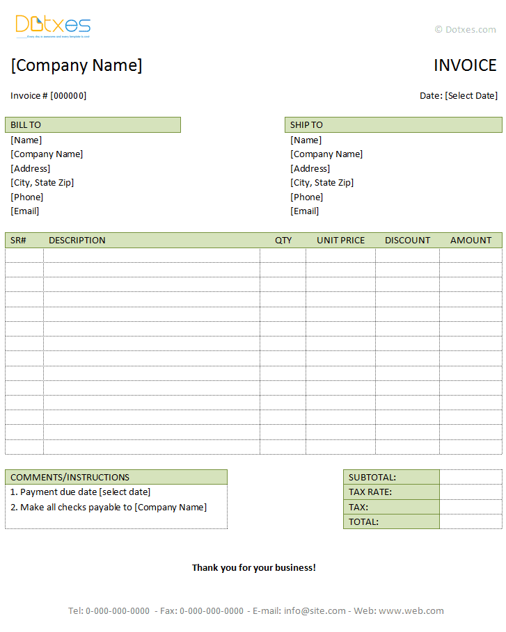 entertainment invoice template word – notators, Invoice examples