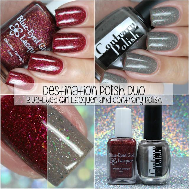 Destination Polish Duo ft. Blue-Eyed Girl Lacquer and Contrary Polish