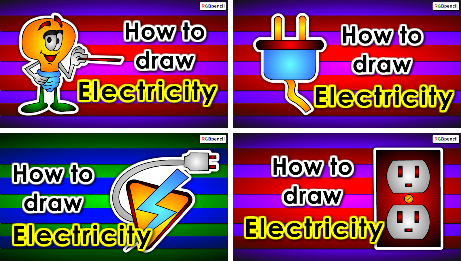 How to draw Electricity for kids step by step - ToonParrot.com