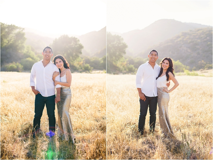 beautiful field engagement session by Closer to Love Photography