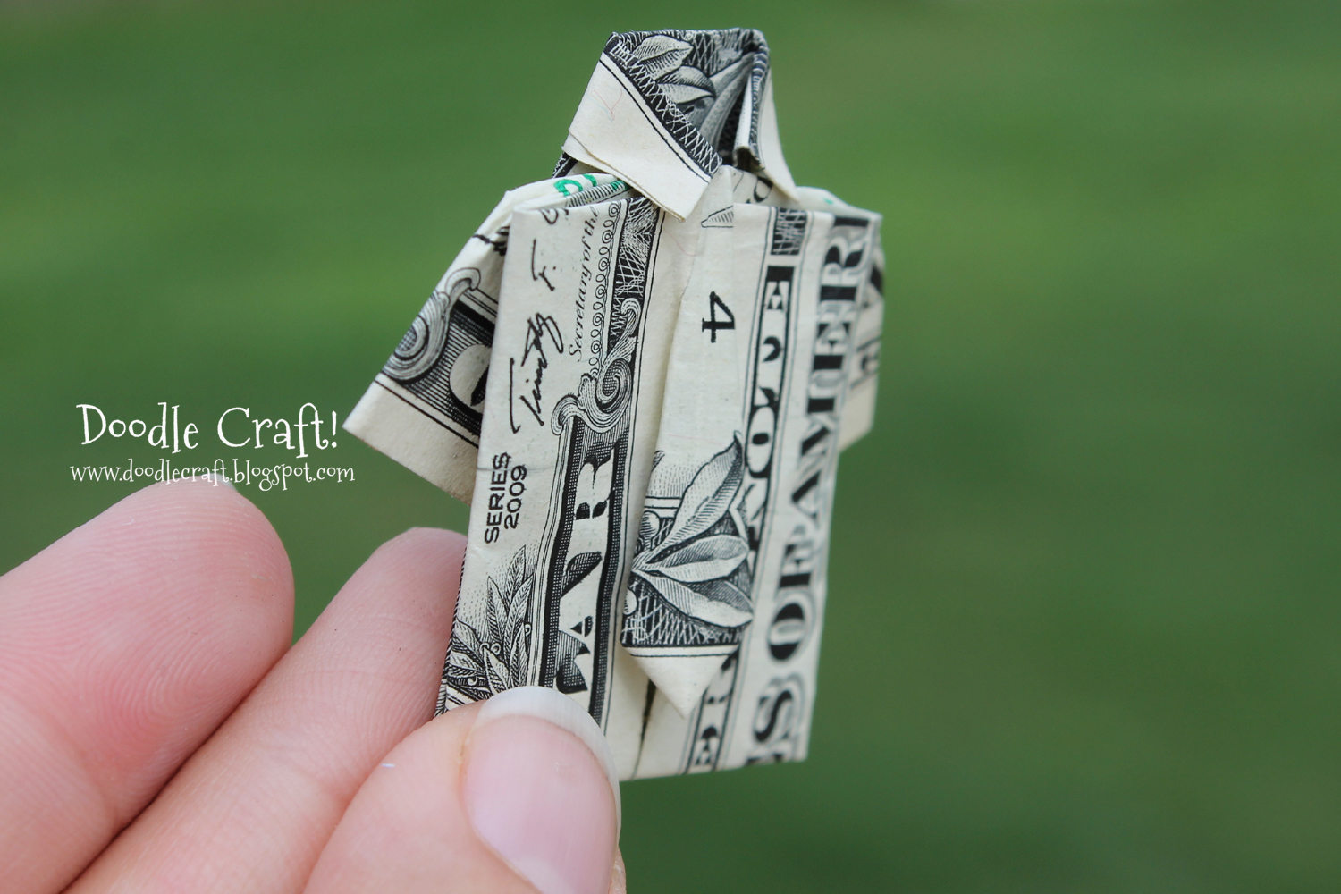 Doodlecraft: Origami Money folding: Shirt and Tie! - photo#21