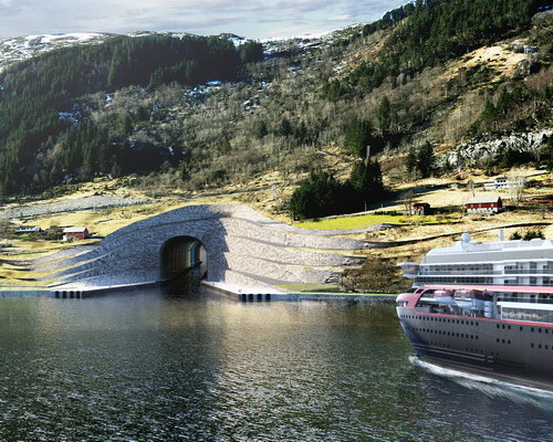 Tinuku.com Norwegian Coastal Administration prepare Stad Ship Tunnel construction to cut shipping lanes Stad peninsula