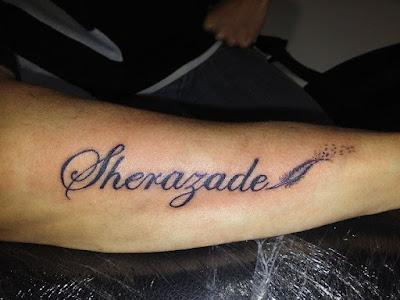 Tatuaje de nombre Sherazade