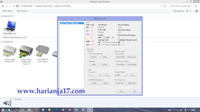 Cara Lengkap Reset Jenis Printer Canon Menggunakan Software Ip ...