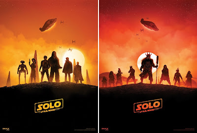 Solo: A Star Wars Story AMC IMAX Theatrical Mini One Sheet Movie Posters by Marko Manev