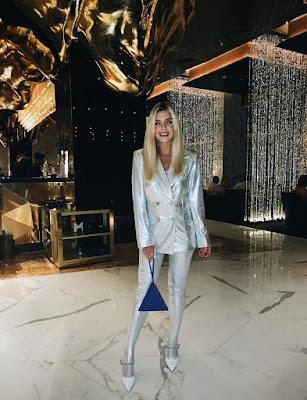 Puro glamour: Giovanna foi jantar no hotel sete estrelas Burj Al Arab — Foto: Arquivo pessoal