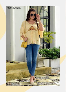 Wholesale Western Top: Mustard nx Elements