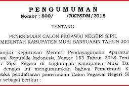 Formasi, Pelaksanaan Seleksi, dan Sistem Kelulusan CPNS Kabupaten Musi Banyuasin