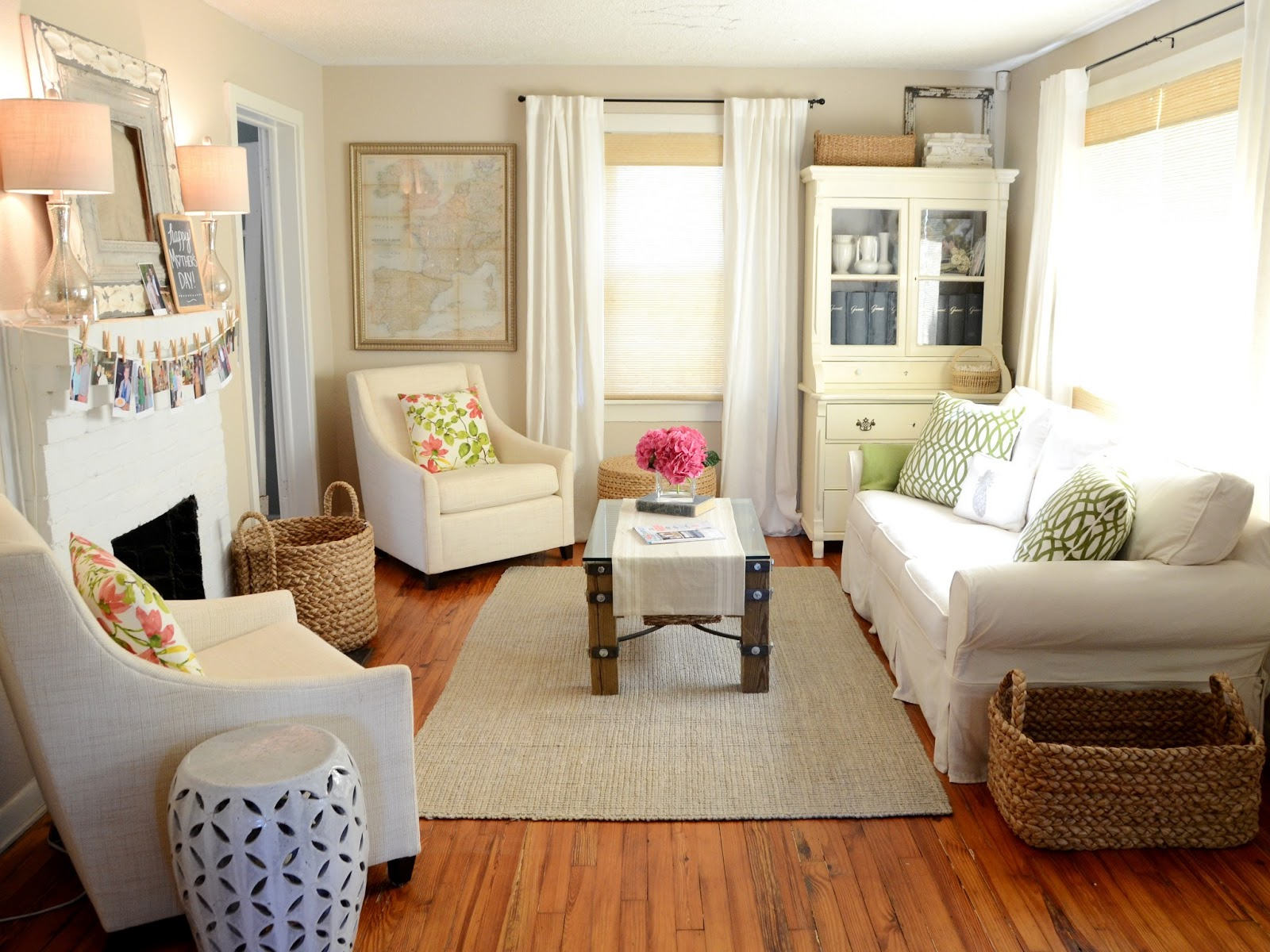 Living Room Makeover: IRON & TWINE: Living Room Before & After