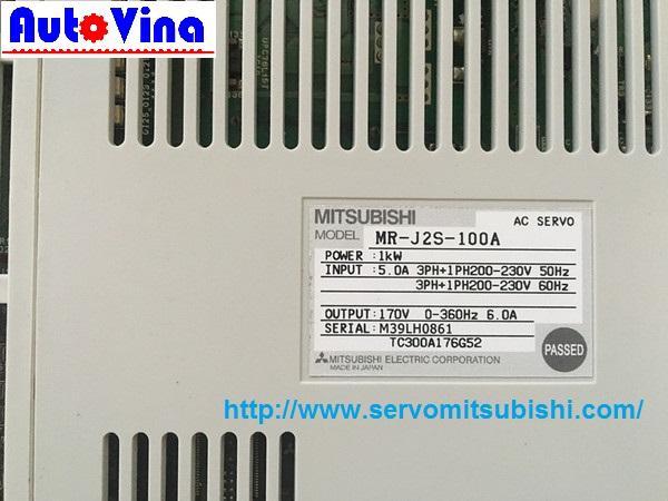 Đại lý bán AC Servo Mitsubishi MR-J2S-100A, kho servo công suất 1kW Mitsubishi