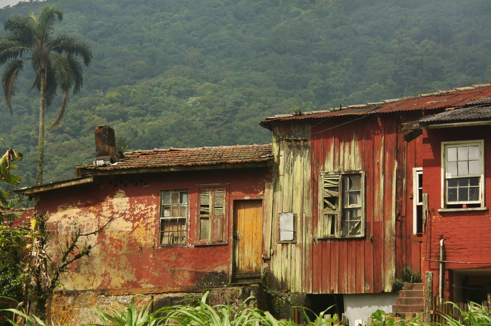 Casas abandonadas em Paranapiacaba