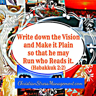 Write down the vision and make it plain so that he may run who reads it Habakkuk 2:2
