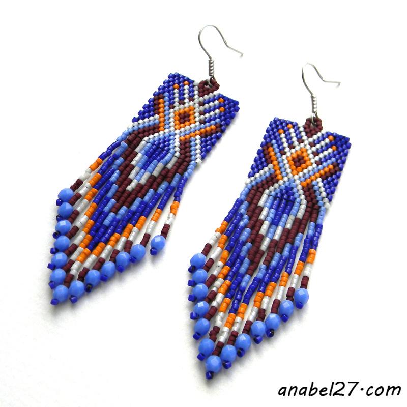 купить индейские серьги в украине анабель
