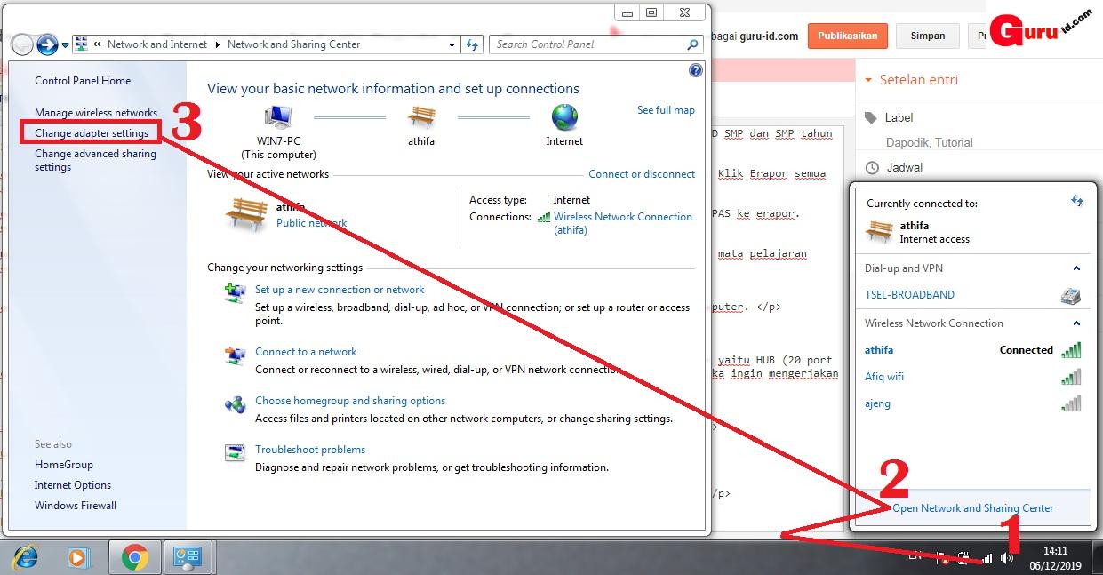 gambar cara setting ip adress untuk LAN