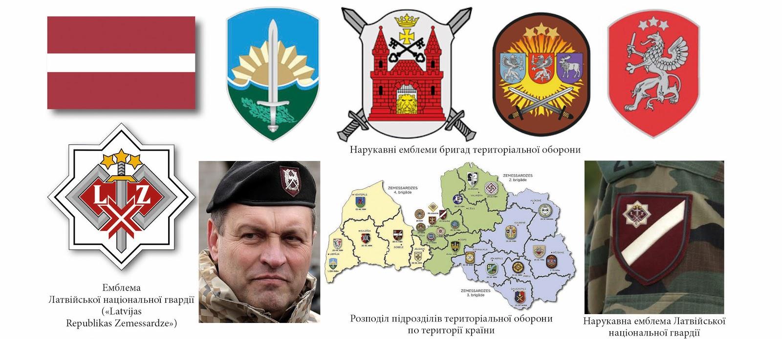 нарукавні емблеми тероборони ЗС Латвії