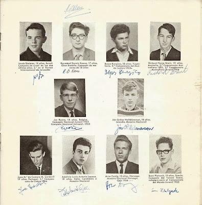 Jugadores participantes en el VIII Campeonato Mundial Juvenil de Ajedrez 1965 (2)