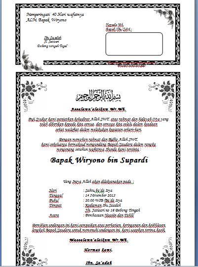undangan tahlil pdf
