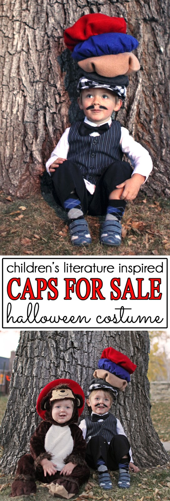 Caps for Sale Peddler Halloween Costume