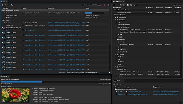 Kết quả hình ảnh cho Adobe Media Encoder CC 2015