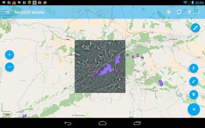 добавленный растровый слой в NextGIS Mobile из nextgis web (NGW)