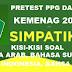 Download Kisi Kisi Soal Pretest PPG Dalam Jabatan Kemenag 2018, B. Arab. B. Sunda, B.inggris