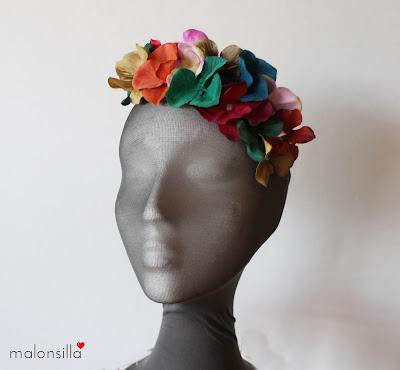 corona flores colores otoñales