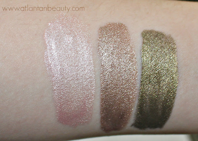 Maybelline's Color Tattoo Eye Chromes in Gilded Rose, Beige Luster, and Khaki Kool