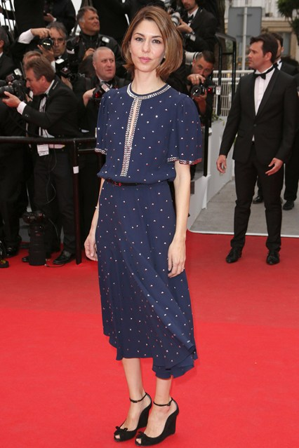 Sofia Coppola wore a Michael Kors dress with Chopard jewellery at Cannes 2014
