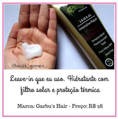 leave-in com proteção solar e térmica da garbus hair