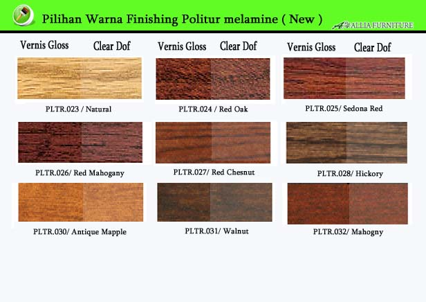 Warna Finishing Furniture Politur Melamine Terbaru