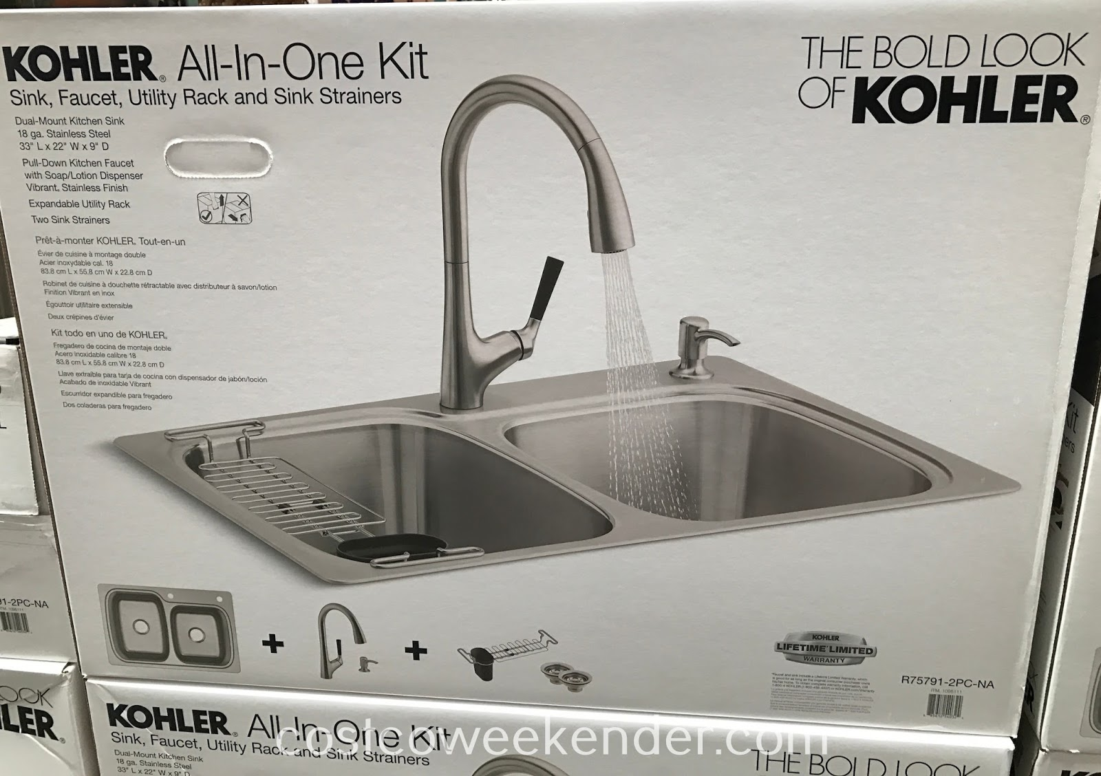 stainless steel sink and faucet kit