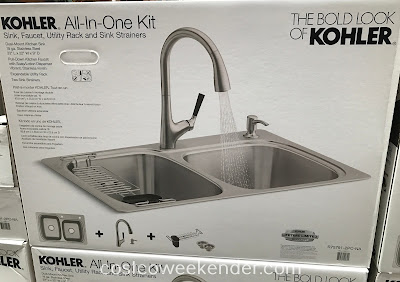 Costco 1095111 - Kohler All-In-One Stainless Steel Sink and Faucet Kit: beauty and function for the main room in your home...the kitchen!