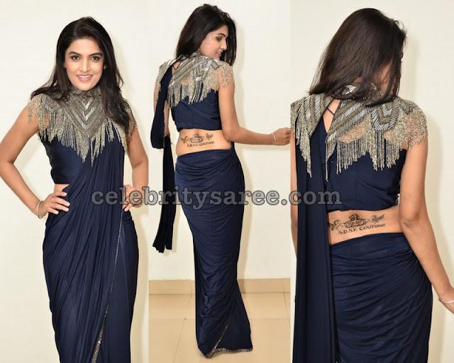 Ritu Biradar Blue Designer Saree