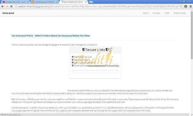 Cara Mudah Melewati Safelink-Direct dalam waktu hitungan detik-anditii.web.id