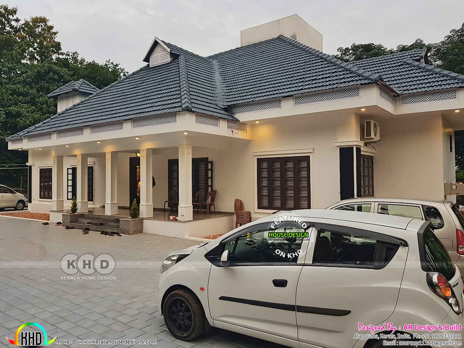 Finished 4 Bedroom Home With Interiors Kerala Home
