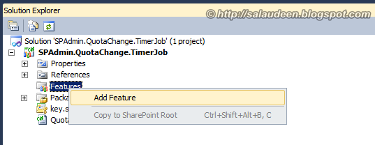 sharepoint 2010 timer job feature