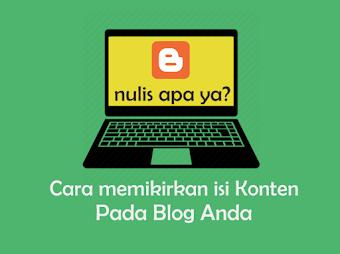 Tips Menulis atau Mengisi  Konten di Blog anda - Dasar Blogging