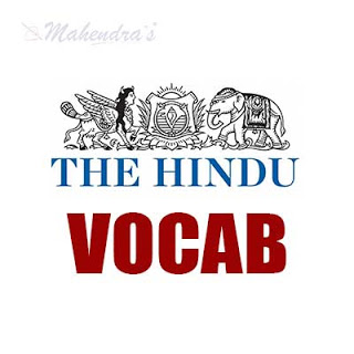 The Hindu Vocabulary For SBI Clerk Prelims | 06-06-18