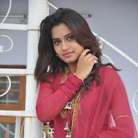 Cute Dimple in Red anarkali salwar suite looking gorgeous