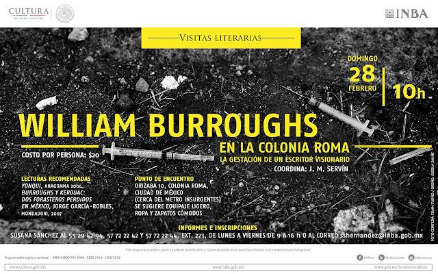 Recorrerán la colonia Roma para recordar al escritor William Burroughs en las Visitas Literarias