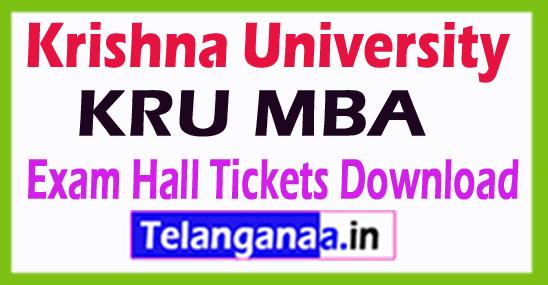 Krishna University KRU MBA Exam Hall Tickets Download