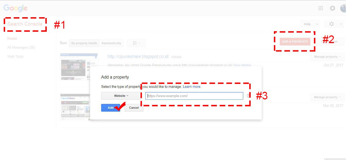 cara mendaftarkan blog ke google search console