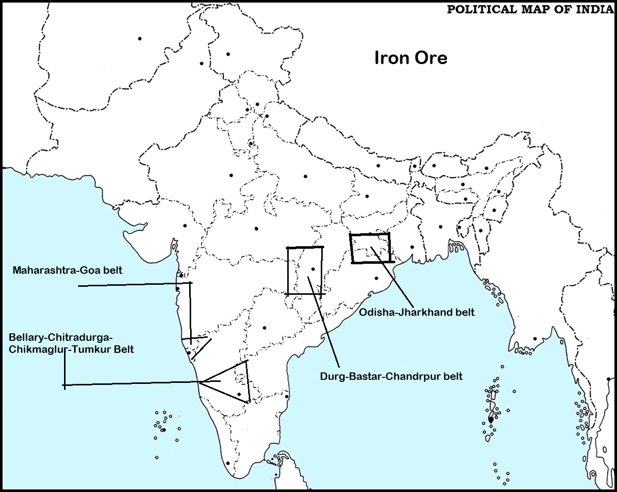 NTSE SOCIAL SCIENCE MINERALS AND POWER RESOURCES IN INDIA
